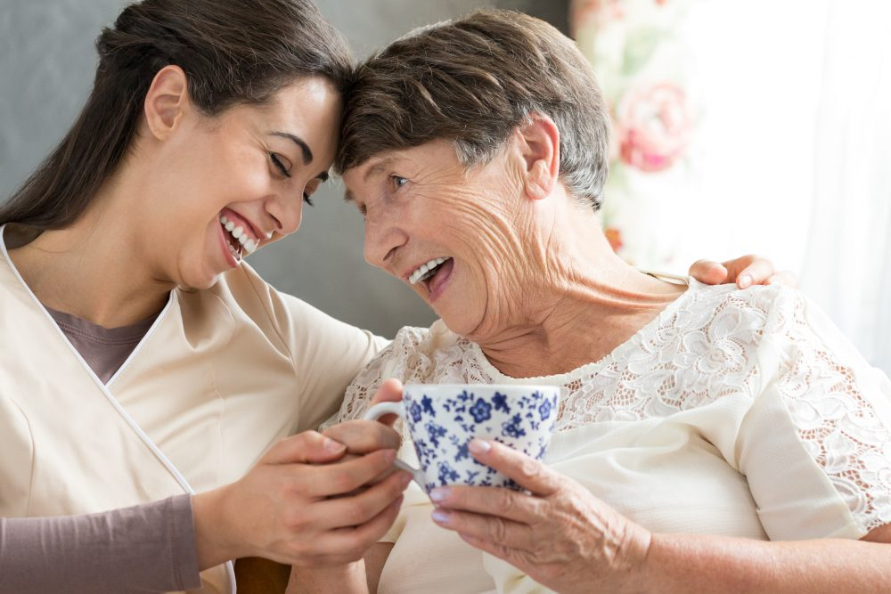 At-home in-home care elderly older adult
